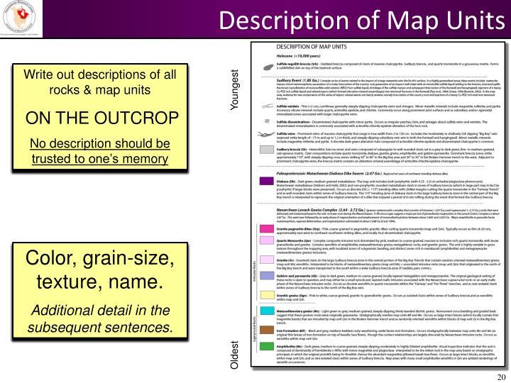 Description of Map Units