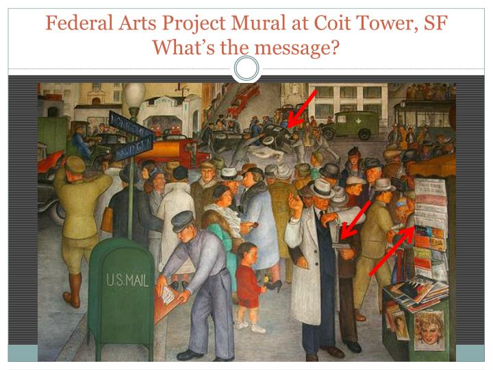 Federal Arts Project Mural at Coit Tower, SF
