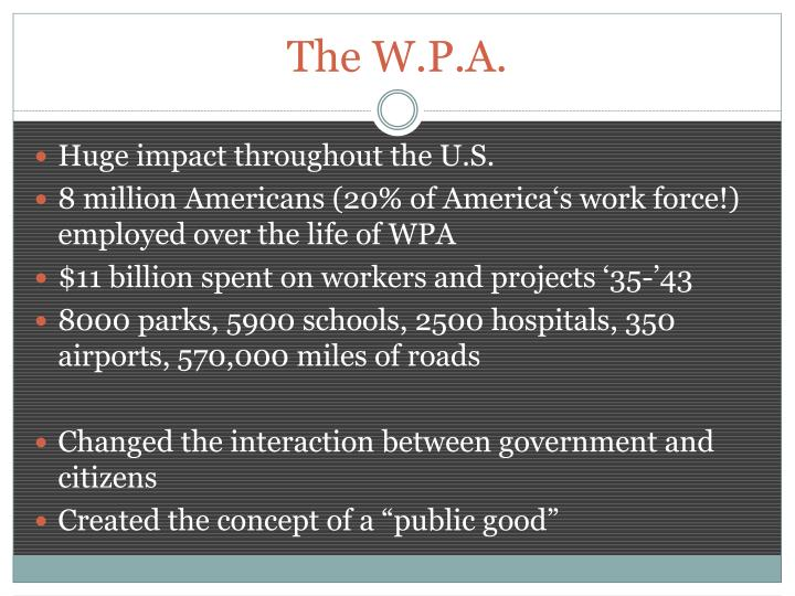 The W.P.A.