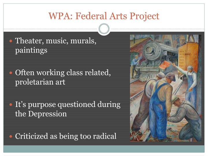 WPA: Federal Arts Project