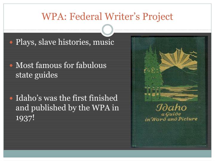 WPA: Federal Writer's Project