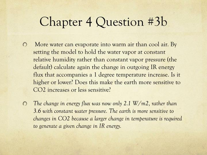 Chapter 4 Question #3b
