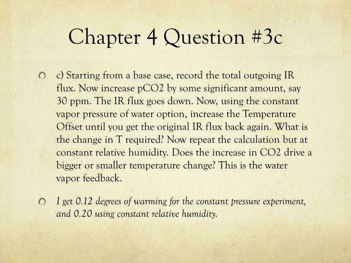 Chapter 4 Question #3c