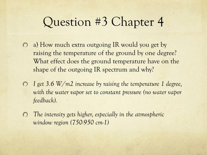 Question #3 Chapter 4