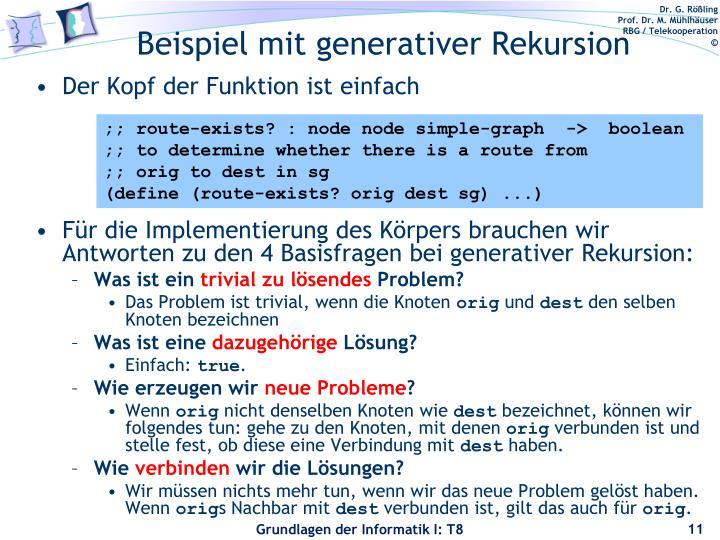 Beispiel mit generativer Rekursion