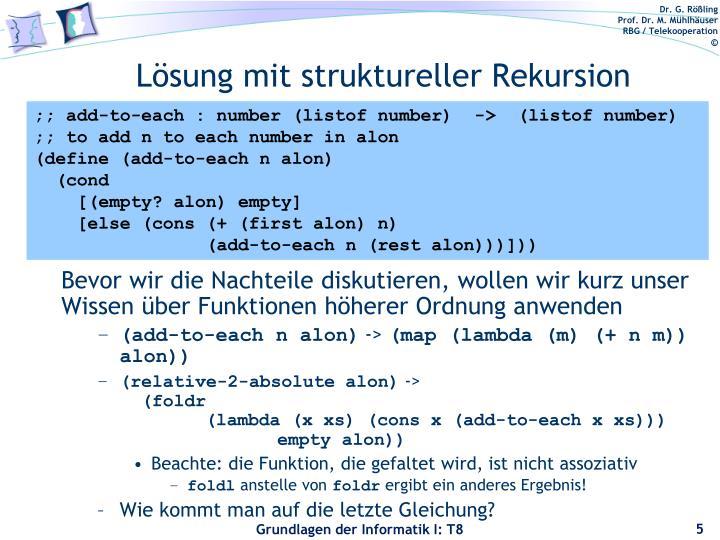 Lösung mit struktureller Rekursion