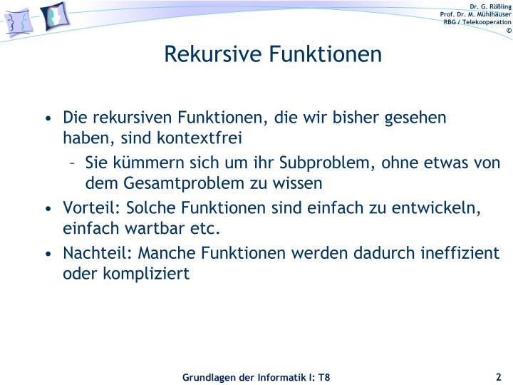 Rekursive Funktionen