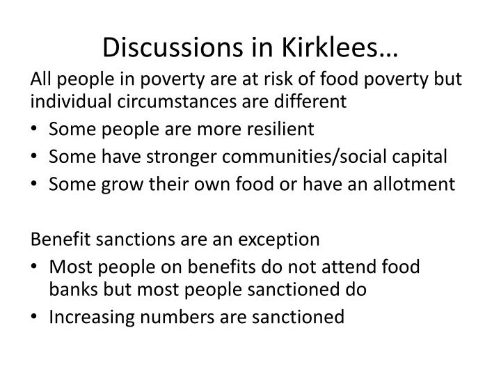 Discussions in Kirklees…