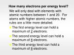 how many electrons per energy level