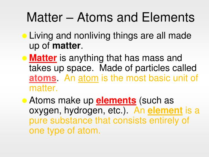 Matter atoms and elements