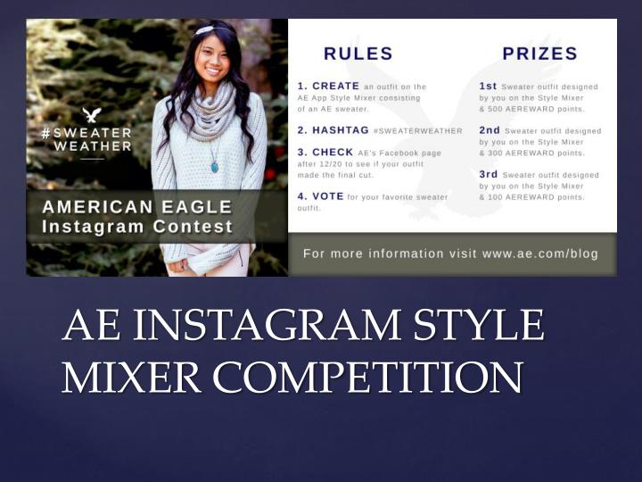 AE INSTAGRAM STYLE MIXER COMPETITION