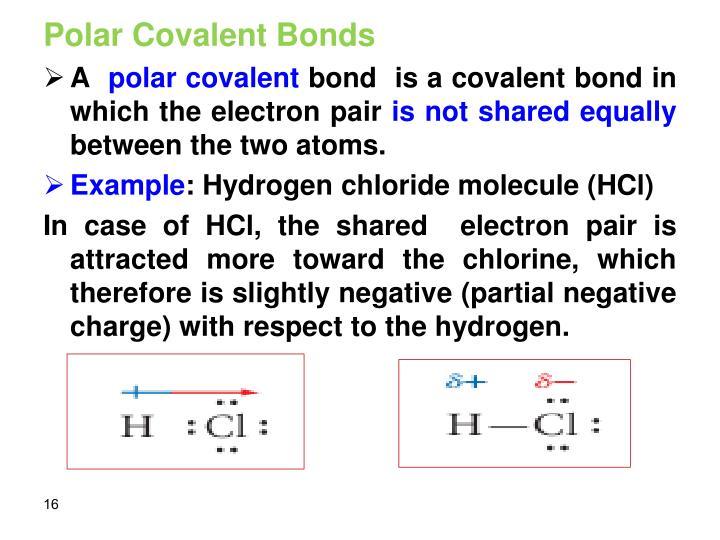 Polar Covalent Bonds