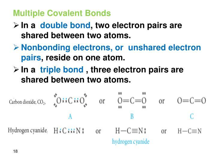 Multiple Covalent Bonds