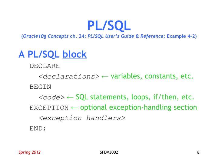 PL/SQL