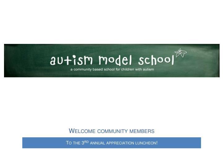 Welcome community members