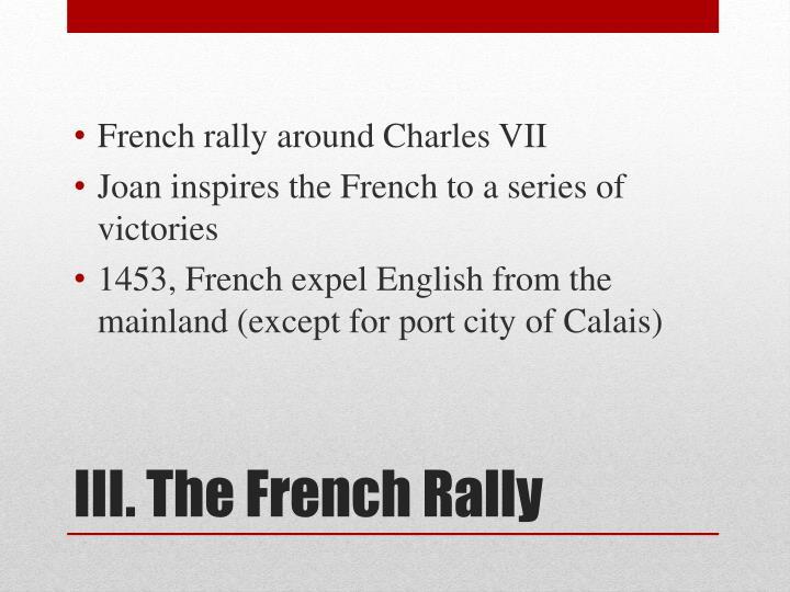 French rally around Charles VII