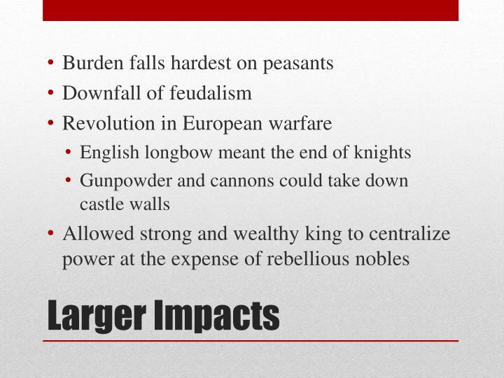 Burden falls hardest on peasants