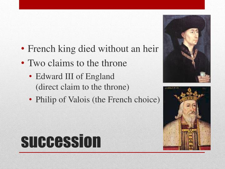French king died without an heir