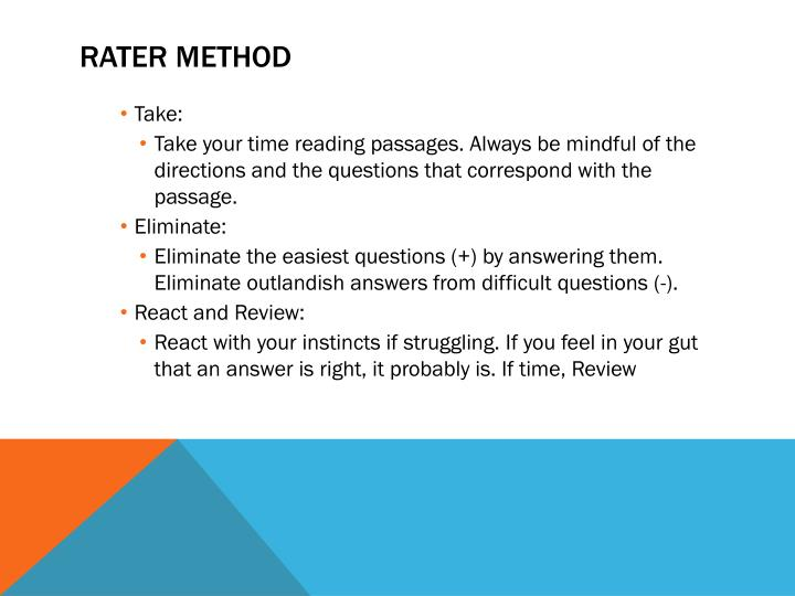 RATER Method