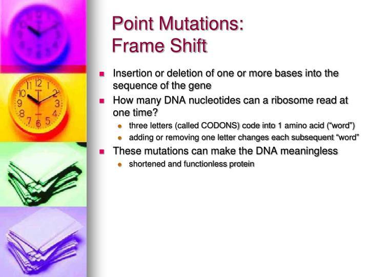 Point Mutations: