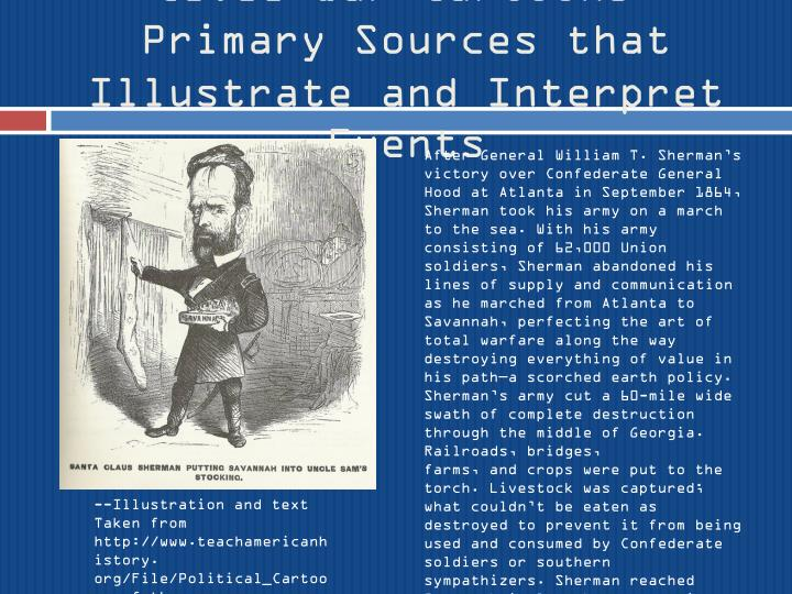 Civil War Cartoons: Primary Sources that Illustrate and Interpret Events