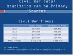 civil war data statistics can be primary sources