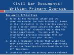civil war documents written primary sources3