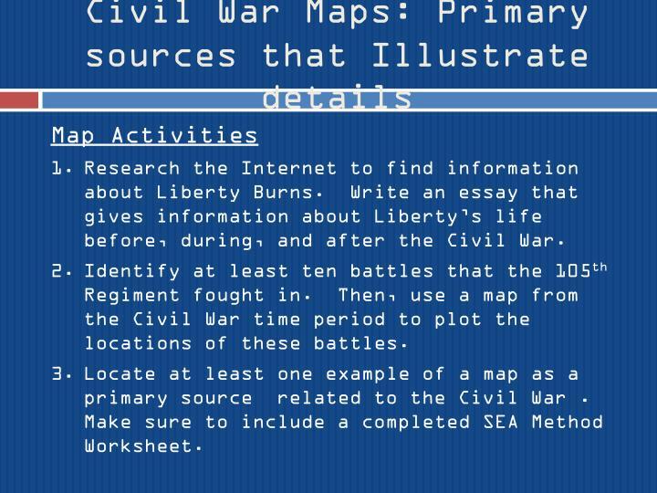 Civil War Maps: Primary sources that Illustrate details