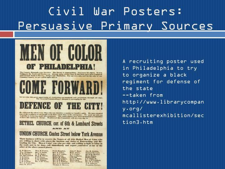 Civil War Posters:
