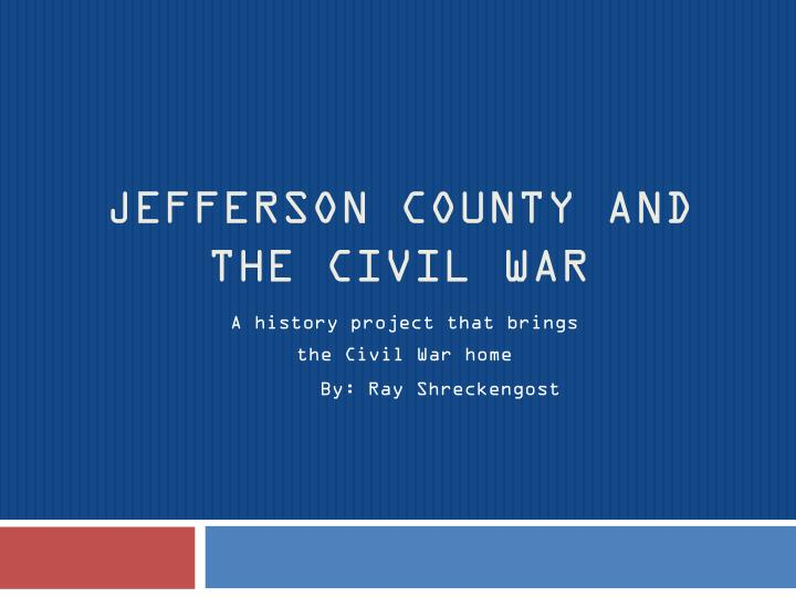 jefferson county and the civil war