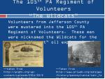 the 105 th pa regiment of volunteers the wildcats