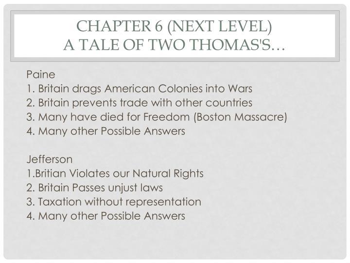 Chapter 6 (Next Level)