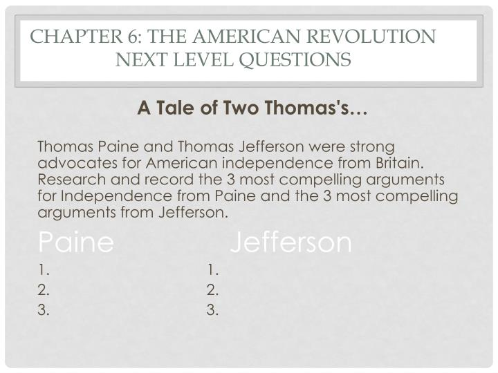 Chapter 6: The American Revolution