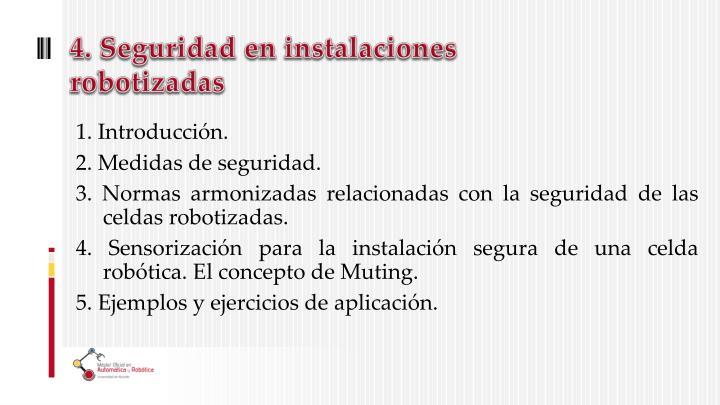 4. Seguridad en instalaciones