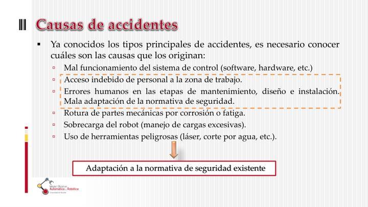 Causas de accidentes