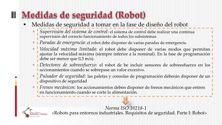 Medidas de seguridad (Robot)