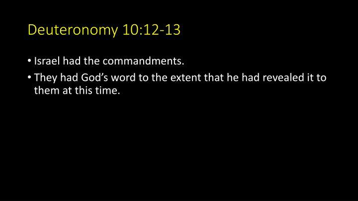 Deuteronomy 10:12-13