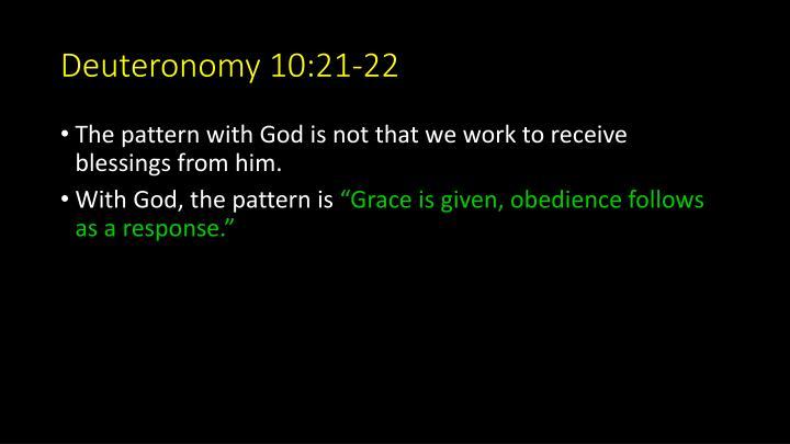 Deuteronomy 10:21-22