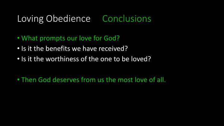 Loving Obedience