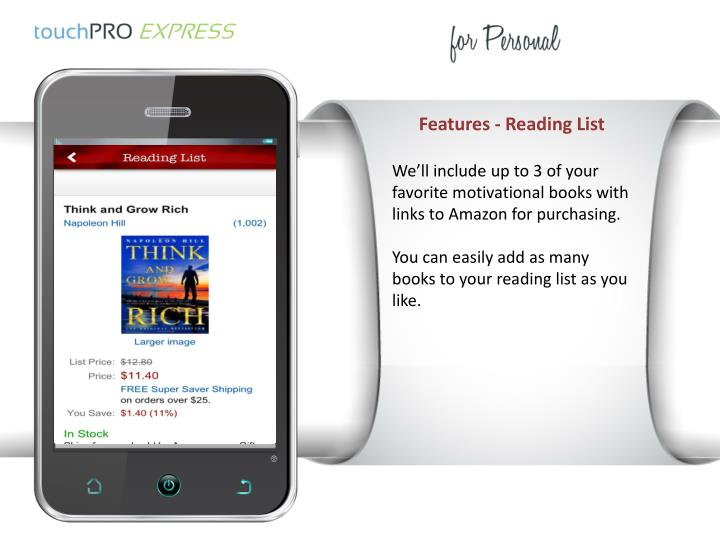 Features - Reading List