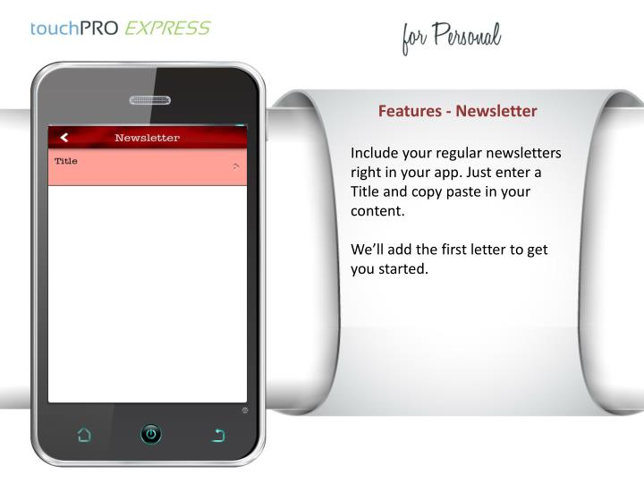Features - Newsletter