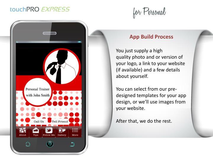 App Build Process