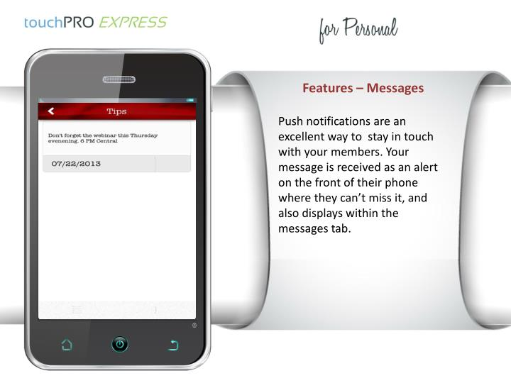 Features – Messages
