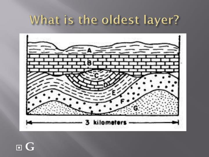What is the oldest layer?