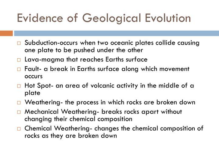Evidence of Geological Evolution