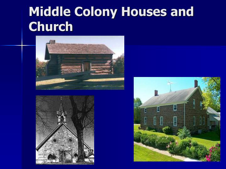 Middle Colony Houses and Church
