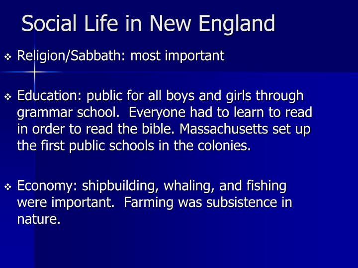 Religion/Sabbath: most important
