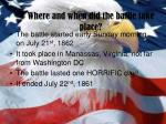 where and when did the battle take place