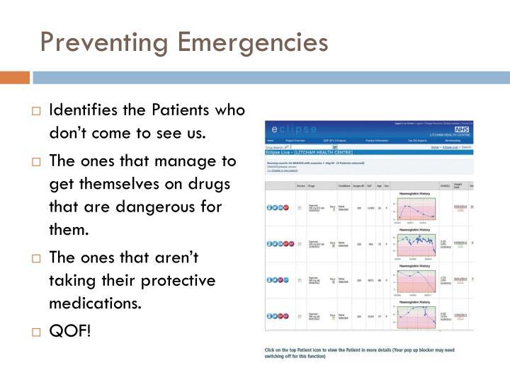 Preventing Emergencies