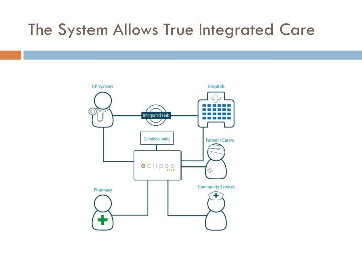 The System Allows True Integrated Care